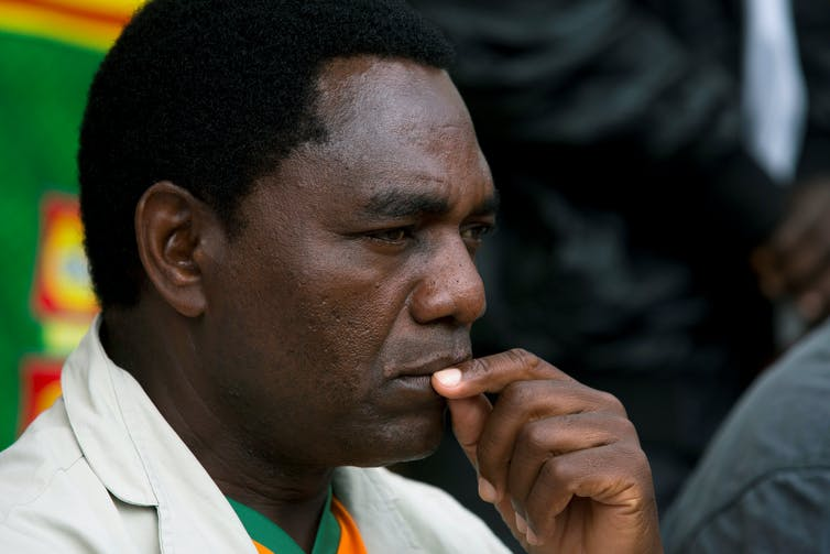 Zambia's opposition leader and presidential hopeful Hakainde Hichilema. Credit: Reuters/Rogan Ward