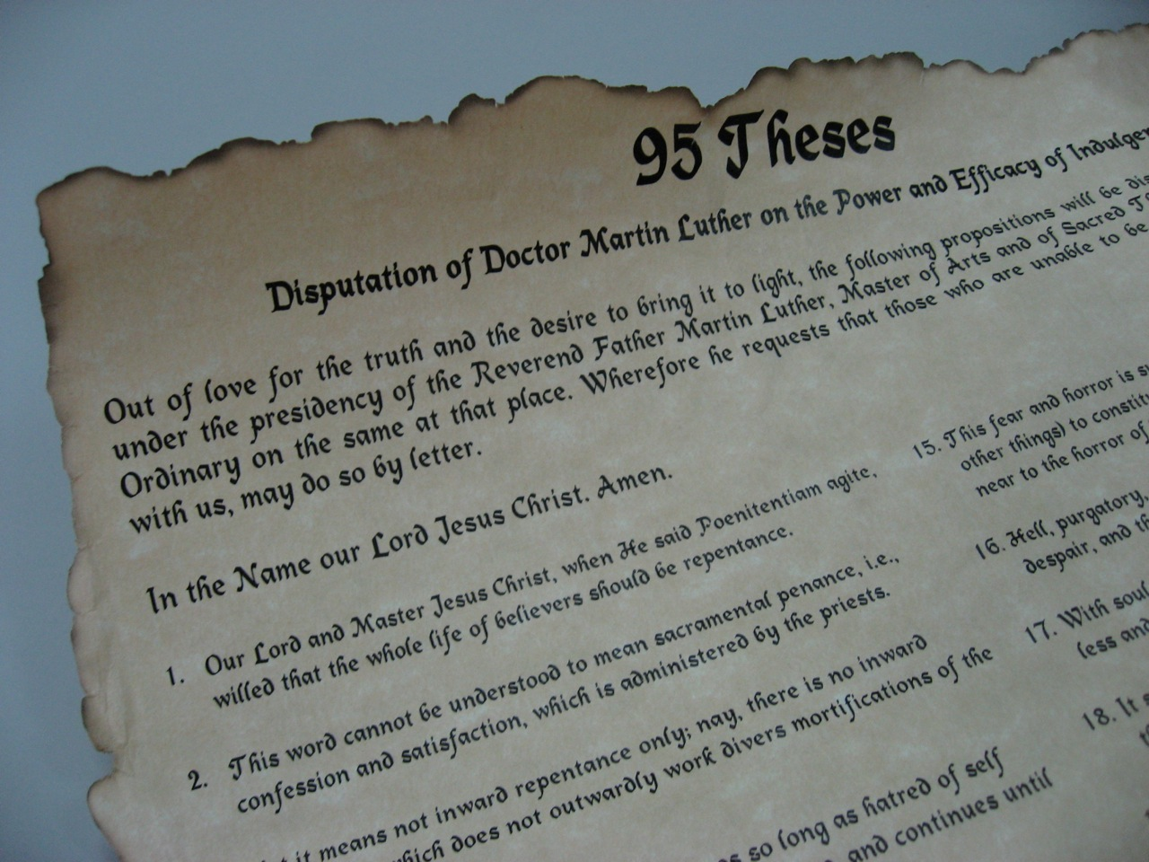 thesis 99 luthren 31, 1517, martin luther thesis 99 luthren mailed the 95 theses to local bishops that they might take action against indulgences nr productions 60,357 views 5.