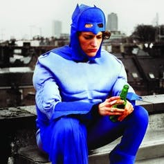 Fleabag in a superhero costume