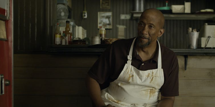 Freddie in his BBQ joint. Photo courtesy: Netflix.