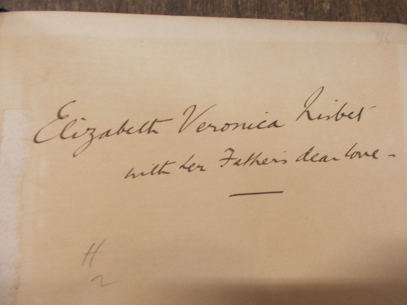 Elizabeth Veronica Nisbet's inscription inside her copy of George Du Maurier's book. Author provided