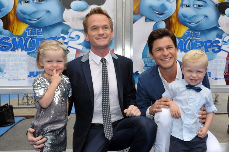 Actors Neil Patrick Harris Gideon Scott Burtka-Harris Smurfs