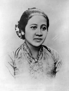 Indonesia's first feminist and national hero, Kartini. Photo from Tropenmuseum, part of the National Museum of World Cultures via Wikimedia Commons