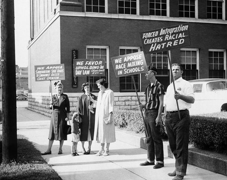 an analysis of the brown vs board of education case on racial segregation in public schools in the u A case in which the court decided that the separate but equal standards of racial segregation  segregation of public schools  brown v board of education.
