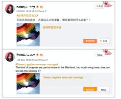 Screen-shot of @melody's Weibo post. Credit: s.weibo.com