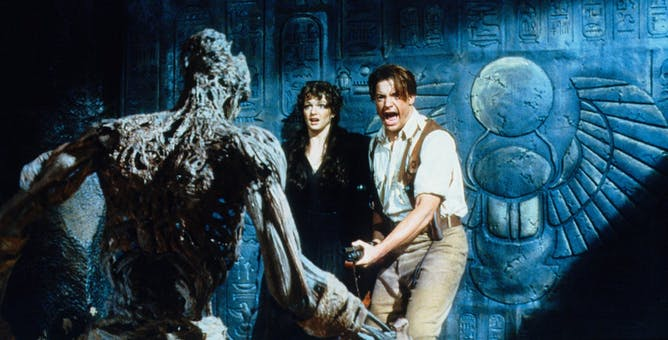 Brendan Fraser and Rachel Weisz in The Mummy (1999). Image credit: Universal Pictures.