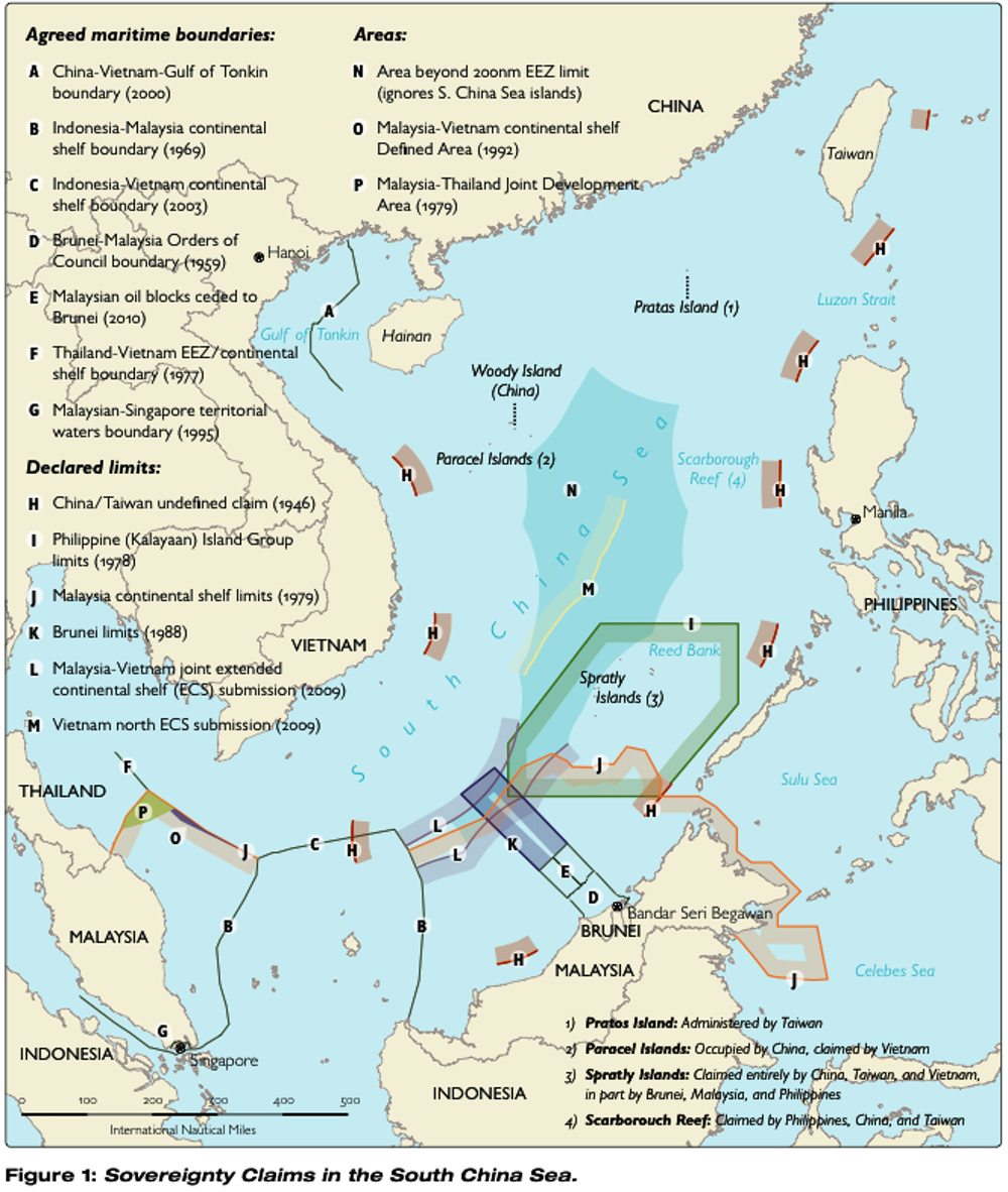 From Chinese missile shelters to US warships, the South China Sea ...