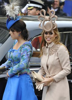 Princess Beatrice's hat designed by Philip Treacy caused a stir at Prince William and Kate Middleton's wedding - but that, of course, was the point. REUTERS/Toby Melville