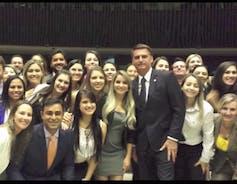 Bolsonaro, centre, openly longs for dictatorship.