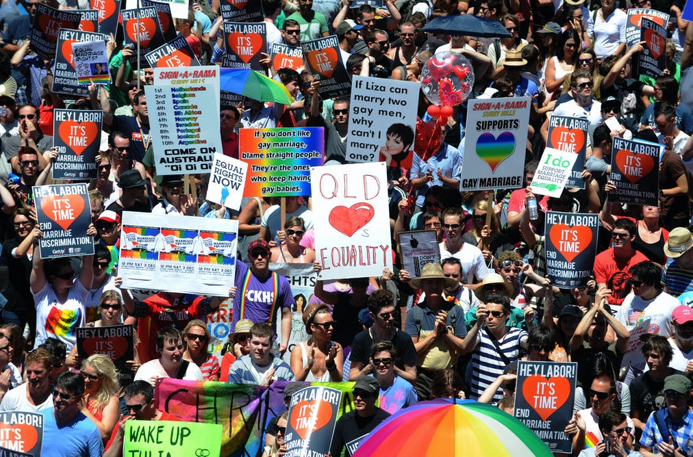 Gay marriage advocates in Australia would have watched last week's US  elections results with interest. AAP/Dean Lewins