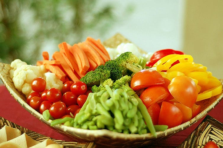Image of a bowl of fresh vegetables