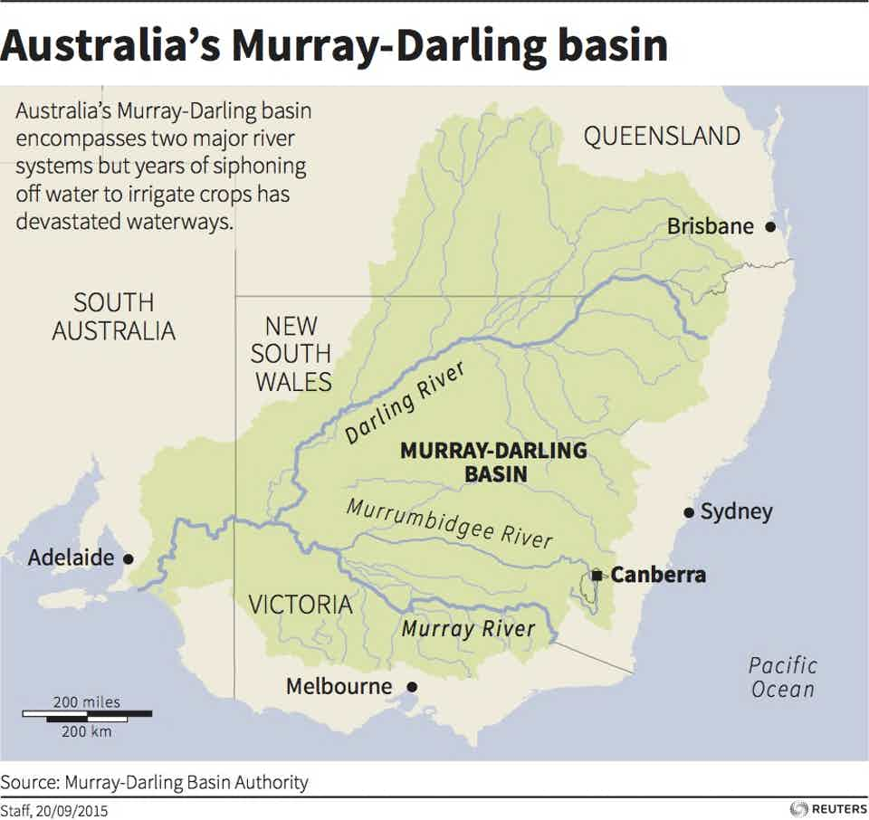 Australia Map Murray River.We Need More Than Just Extra Water To Save The Murray Darling Basin