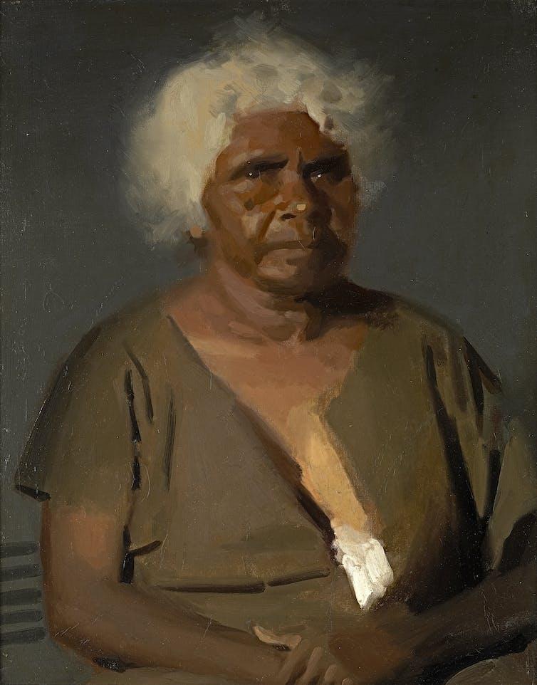Painting of Mrs Clara Hunt