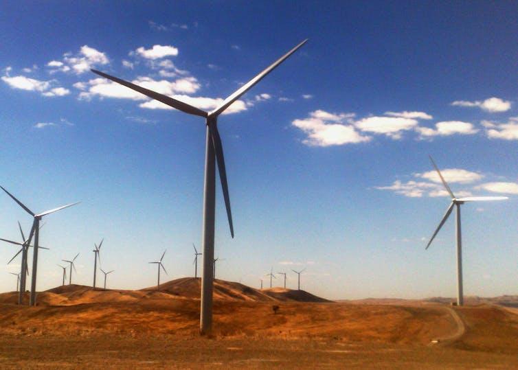 Image of a wind farm