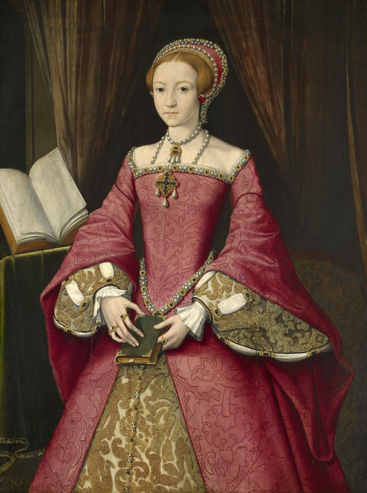 Attributed to William Scrots, Elizabeth I when a princess.