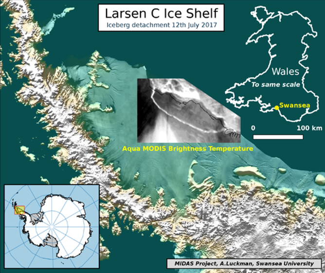 Huge iceberg breaks off of Antarctica