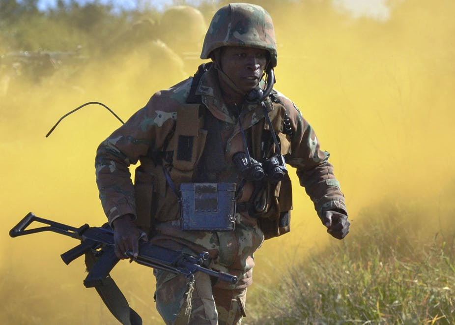 Money has little to do with why South Africa's military is