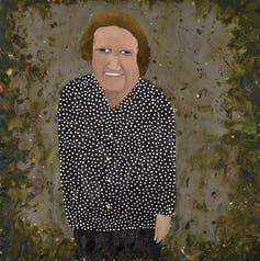 Picture of Liz Laverty, oil on epoxy-coated steel