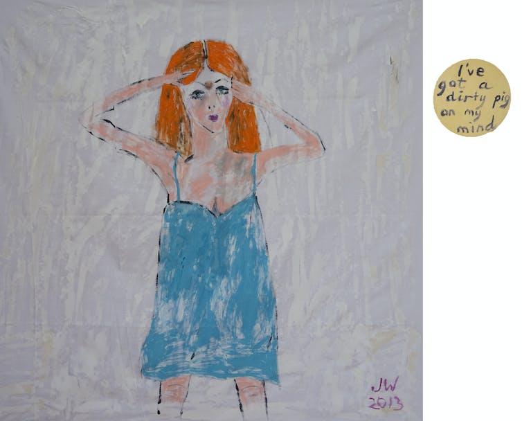 Image of Jenny Watson, I've got a dirty pig on my mind 2013