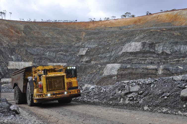 A Truck Emerges From The Spotted Quoll Underground Mine At Western Areas Nickel Operations Forrestania In Southwestern Australia 2017
