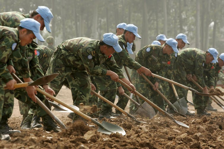 China search for military power