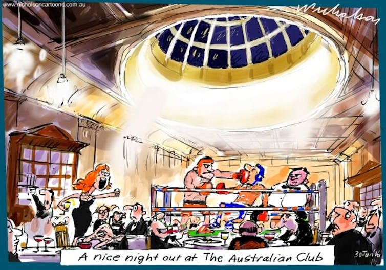 Image of Peter Nicholson's last cartoon for The Australian, 30 June 2016.