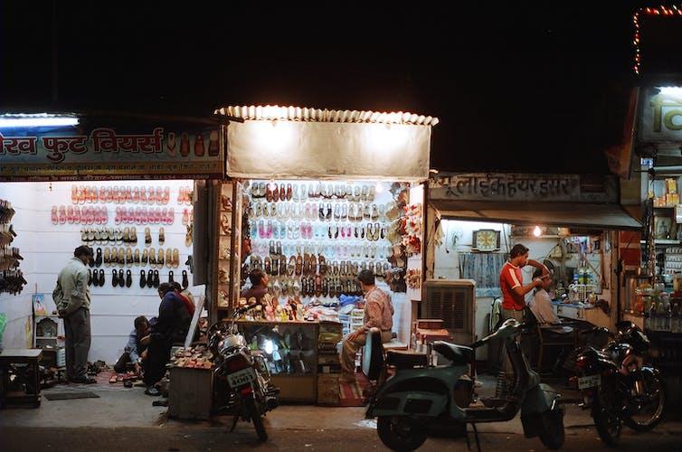 Night traders in Haridwar, Uttarakhand. Ben Crowe/ERA Films