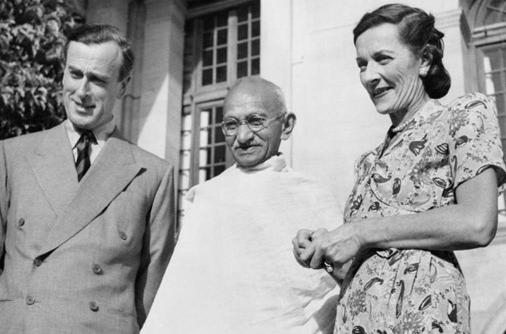Image result for mountbatten gandhi