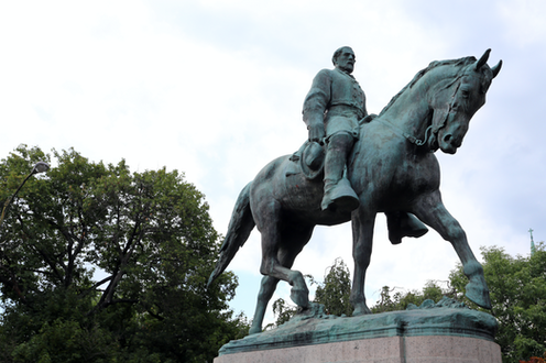 The statue of Robert Lee in Charlottesville.
