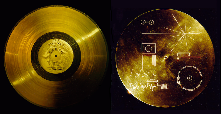 The golden record and instructions on how to play it. NASA/JPL