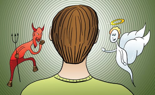mind an of Face a devil of angel