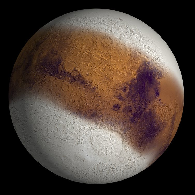 A new study has revealed that it snows on Mars at night