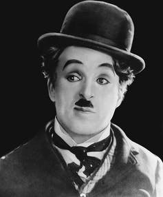 Hitler's trademark mustache mimicked Chaplin's.
