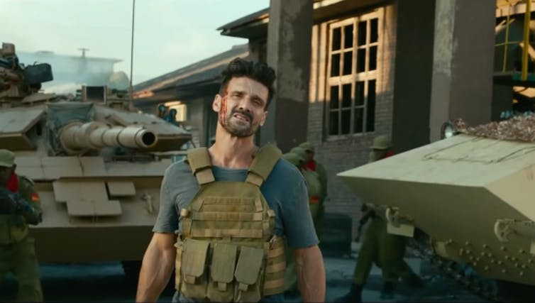 The anti-Rambo: Frank Grillo as the bad guy in Wolf Warrior 2.