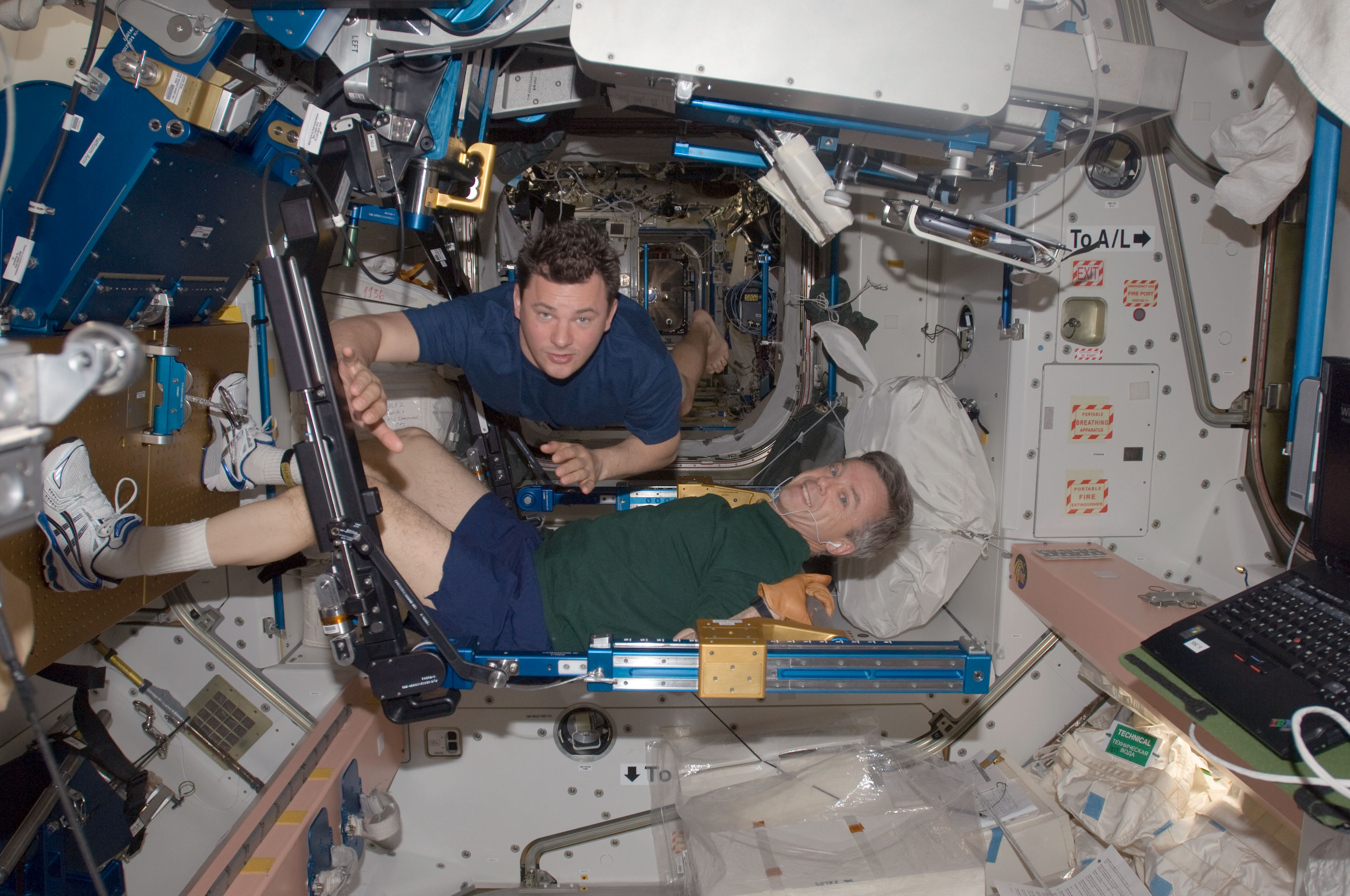 Astronauts make, fling, float, eat pizzas on space station