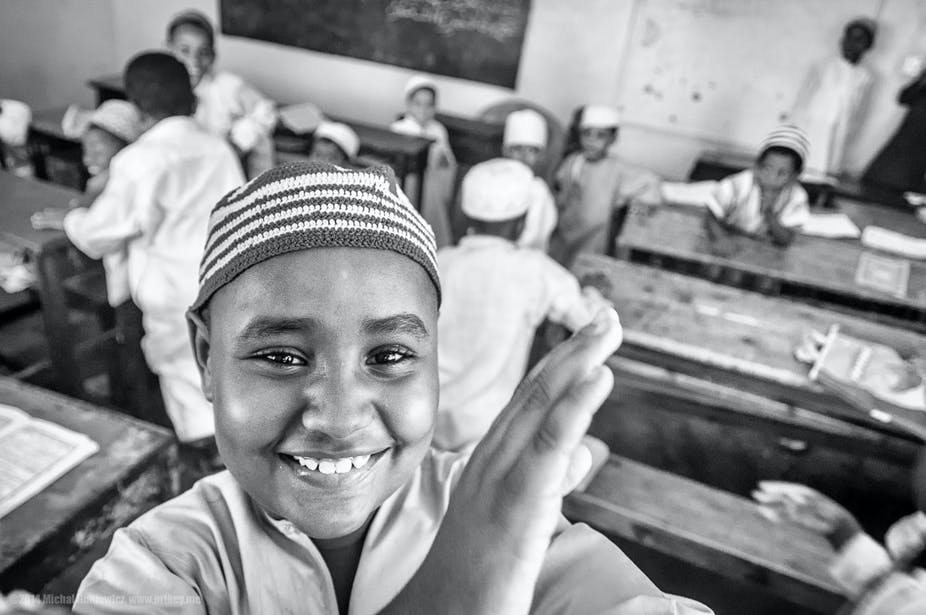 Des enfants d'une école coranique à Mombasa, au Kenya. Michał Huniewicz/Flickr, CC BY