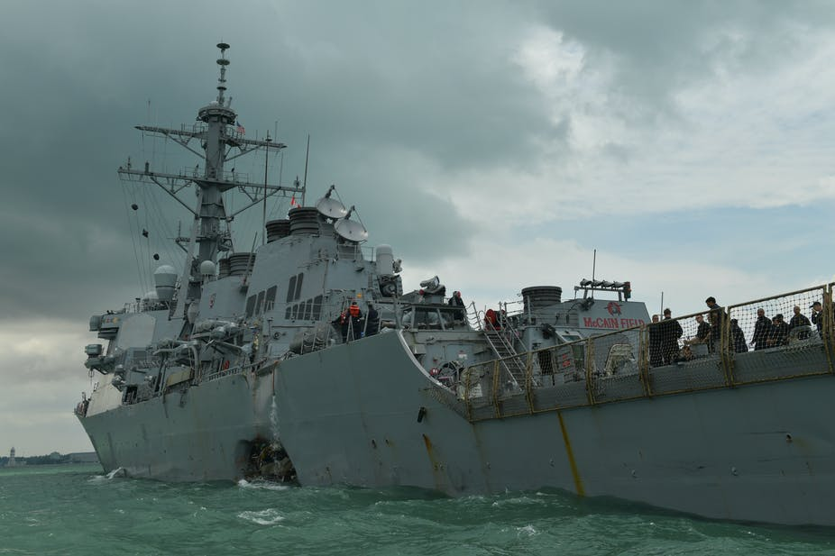 US Navy collisions point to the risks of automation on sea, air and land