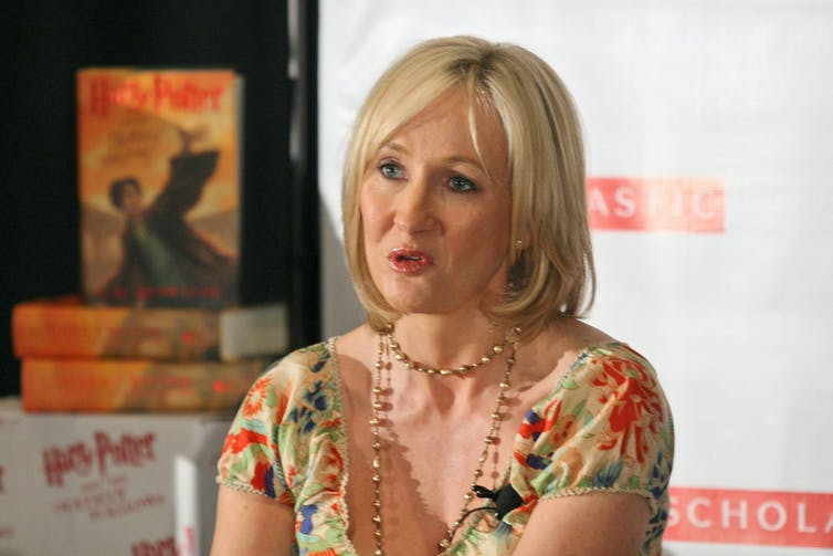 JK Rowling says some of her characters 'just pop up'. s_bukley/Shutterstock