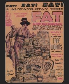 Advertisement for tapeworms