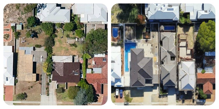 An example of changes in Melville, suburban Perth, between 2011 and 2017.
