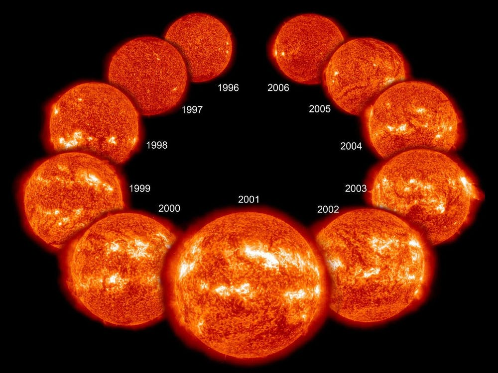Massive sunspots and huge solar flares mean unexpected space weather