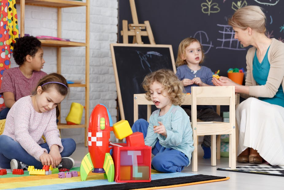 b0002702a40fb Australia still lags behind comparable OECD countries in the participation  of younger children – particularly three year olds.  Shutterstock/Photographee.eu