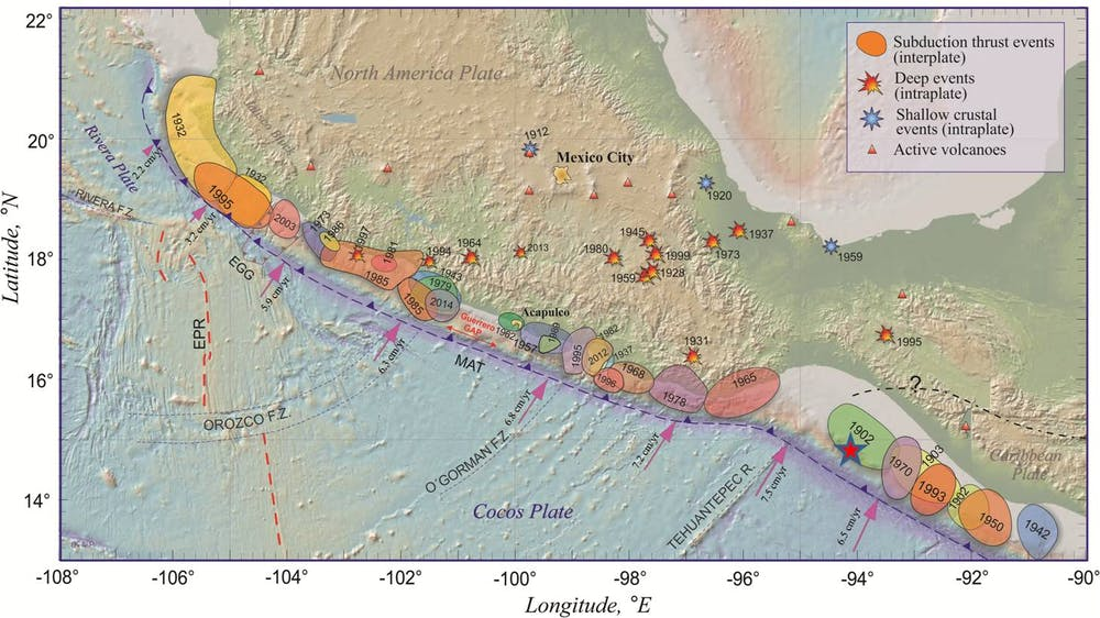 Why seismologists didnt see mexicos deadly earthquake coming major earthquakes along the mexican pacific coast 1900 2017 the red star marks the epicenter of the sept 7 2017 tehuantepec quake gumiabroncs Gallery