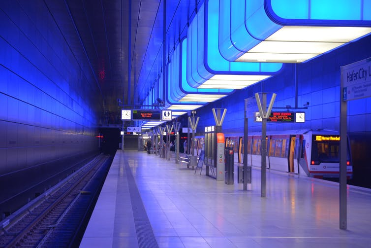 Blue light has been claimed to reduce suicides on train stations. FsHH