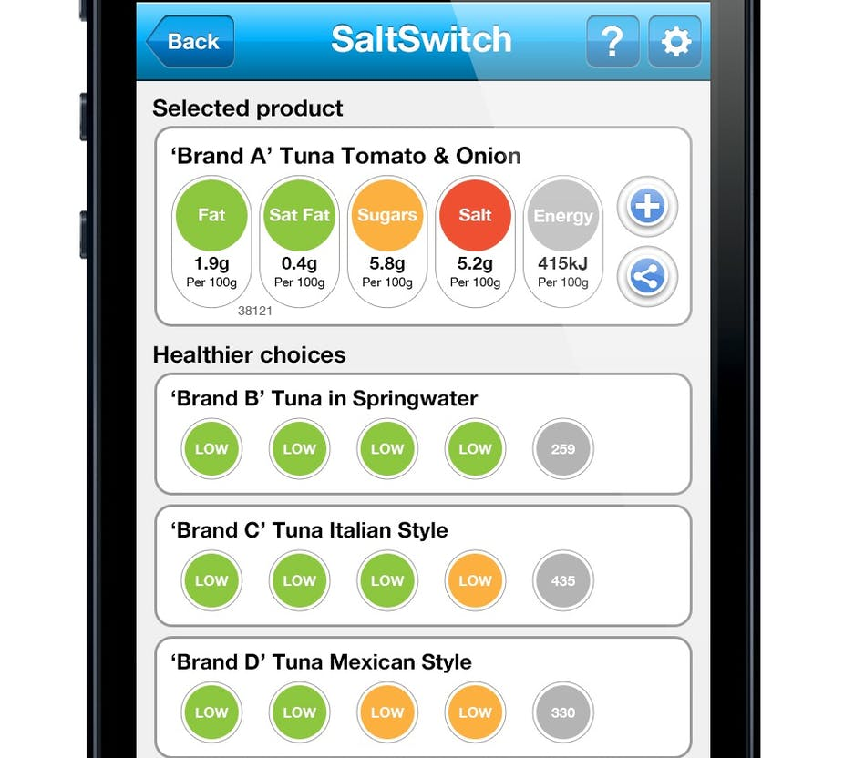 Smartphone App Helps Identify Foods With Less Salt