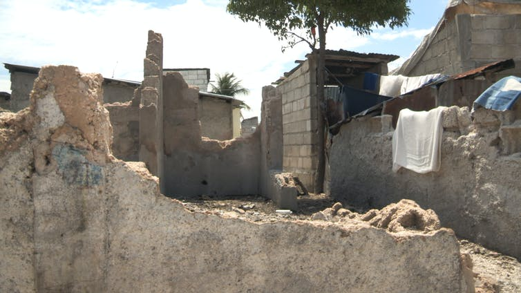 Some homes in Cité Soleil were completely destroyed by gunfire and shelling by UN troops. Photo credit: Siobhan Wills