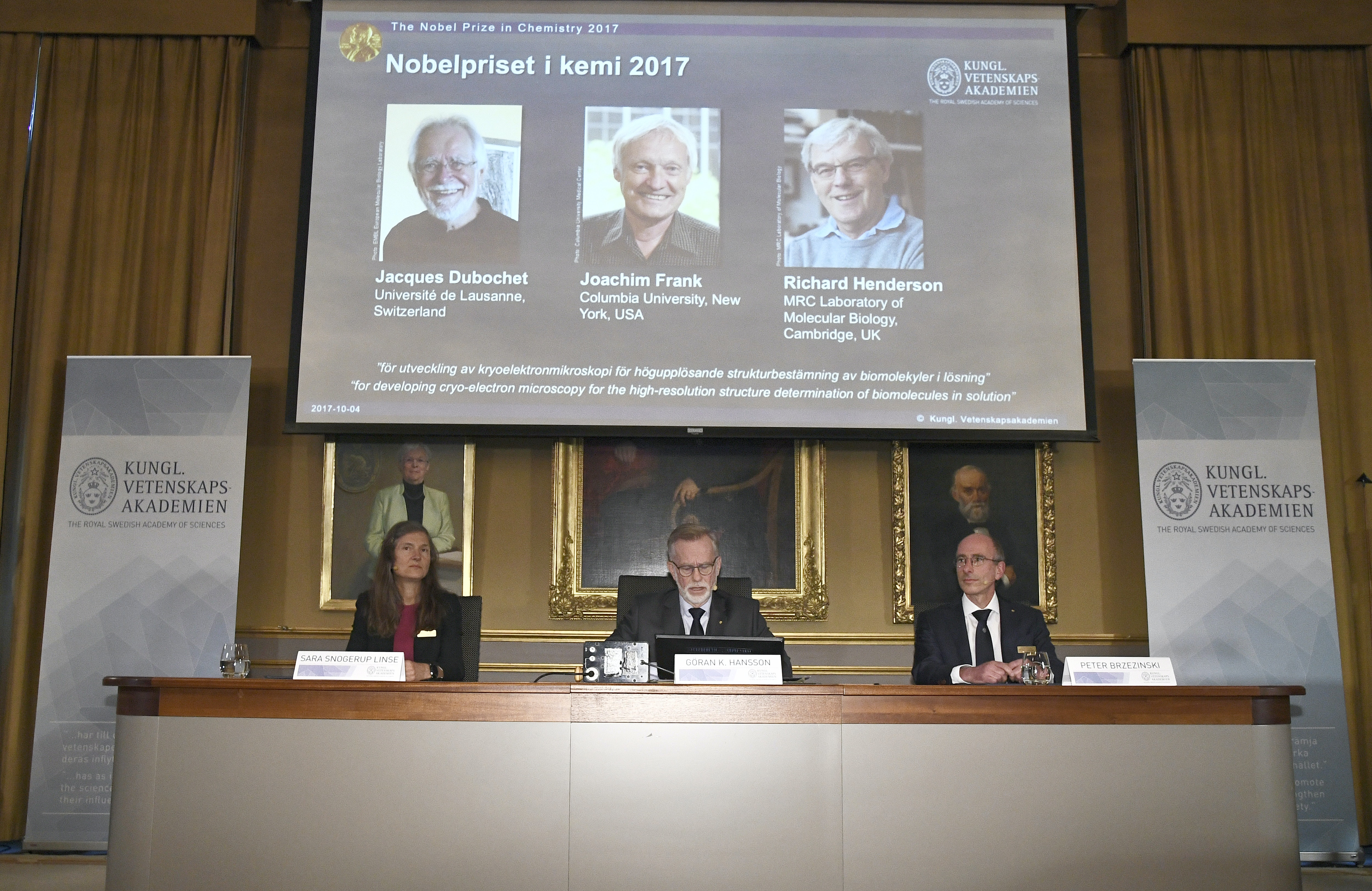 Trio behind method to visualise the molecules of life wins 2017 Nobel Prize in Chemistry