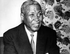 Albert Luthuli, winner of the 1960 Nobel Peace Prize. AP Photo