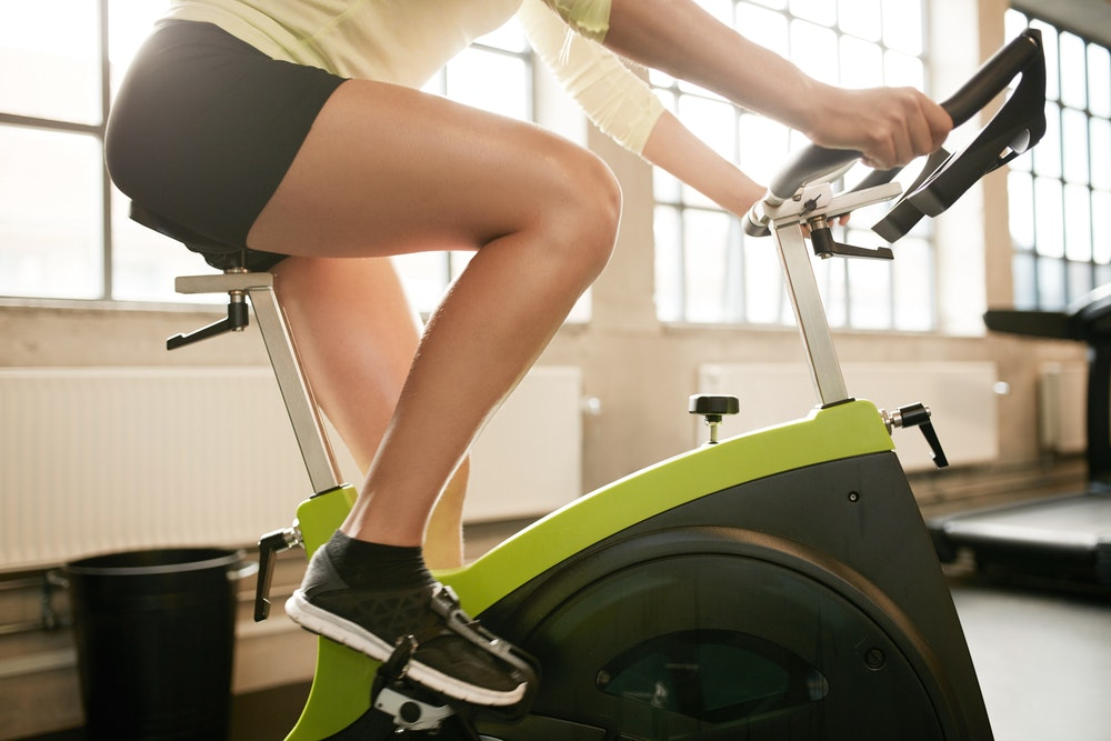 Image of a person on an exercise bike