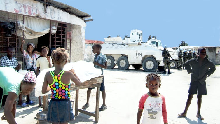 Un soldiers have occupied Bois Neuf, Cité Soleil, for over a decade. Photo credit: Siobhán Wills